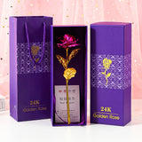 24K Gold Foil Rose With Box (Various Colors)