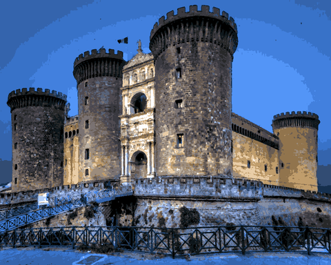 European Castles (274) - Castel Nuovo, Italy - Van-Go Paint-By-Number Kit