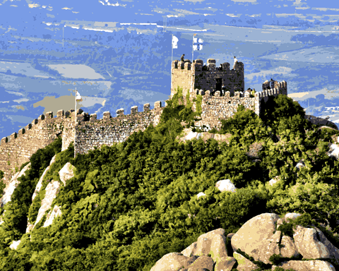 European Castles (278) - Castelo dos Mouros, Portugal - Van-Go Paint-By-Number Kit