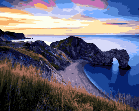 Amazing Places (278) - Jurassic Coast, UK - Van-Go Paint-By-Number Kit