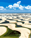 Amazing Places (281) - Lencois Maranhenses, Brazil - Van-Go Paint-By-Number Kit