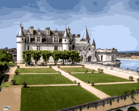 European Castles (285) - Château d'Amboise, France - Van-Go Paint-By-Number Kit