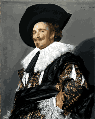 Famous Portraits (29) - Laughing Cavalier By Frans Hals - Van-Go Paint-By-Number Kit
