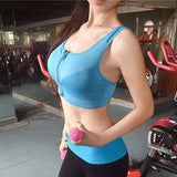 Zipper Push Up Padded Sports Bra with High Impact Resistance