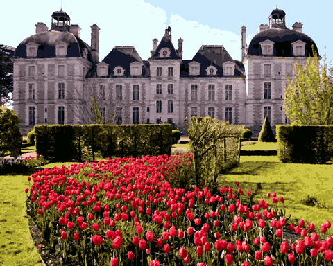 European Castles (305) - Château de Cheverny, France - Van-Go Paint-By-Number Kit