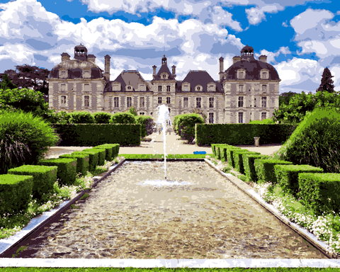 European Castles (306) - Château de Cheverny, France - Van-Go Paint-By-Number Kit