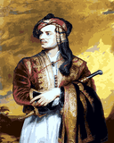 Famous Portraits (30) - Lord Byron in Albanian Dress by Thomas Phillips - Van-Go Paint-By-Number Kit