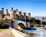 European Castles (322) - Conwy Castle, Wales - Van-Go Paint-By-Number Kit
