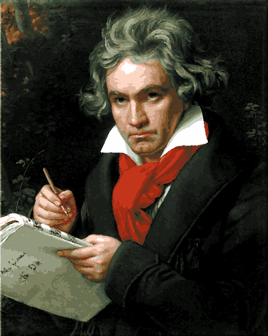 Famous Portraits (32) - Ludwig Van Beethoven By Joseph Karl Stieler - Van-Go Paint-By-Number Kit