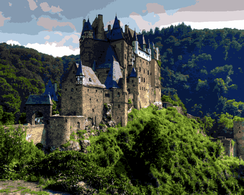 European Castles (337) - Eltz Castle, Germany - Van-Go Paint-By-Number Kit