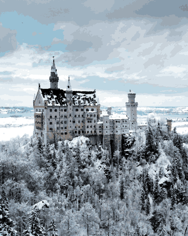 Amazing Places (350) - Neuschwanstein Castle, Germany - Van-Go Paint-By-Number Kit