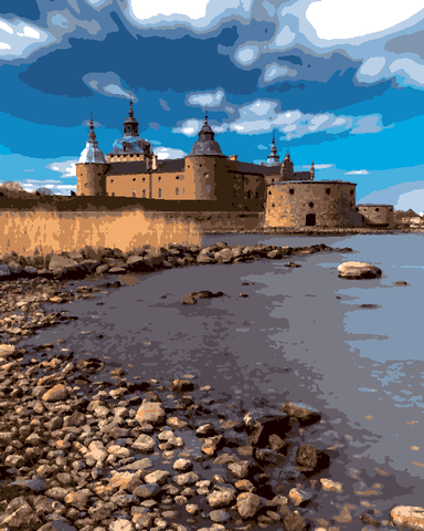 European Castles (350) - Kalmar Castle, Sweden - Van-Go Paint-By-Number Kit
