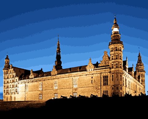 European Castles (363) - Kronborg Caslte, Denmark - Van-Go Paint-By-Number Kit