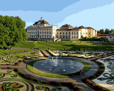 European Castles (372) - Ludwigsburg Palace, Germany - Van-Go Paint-By-Number Kit