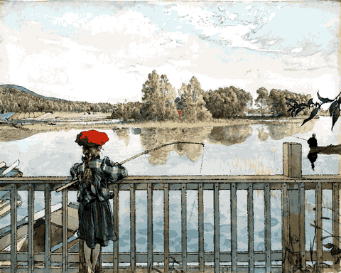 Lisbeth Fishing by Carl Larsson (37) - Van-Go Paint-By-Number Kit