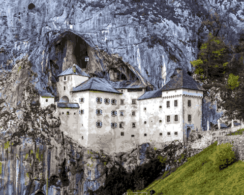 European Castles (386) - Predjama Castle, Slovenia - Van-Go Paint-By-Number Kit