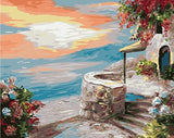 Sunset at Seaside Stone House - Van-Go Paint-By-Number Kit