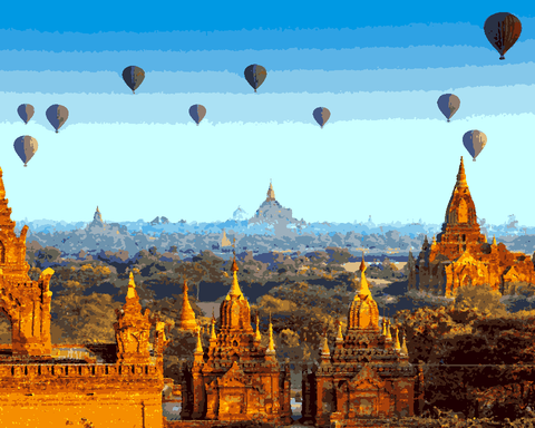 Amazing Places (41) - Bagan, Myanmar - Van-Go Paint-By-Number Kit
