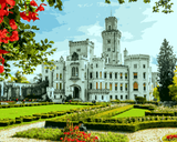 European Castles (436) - The State Chateau of Hluboká, Czech Republic - Van-Go Paint-By-Number Kit