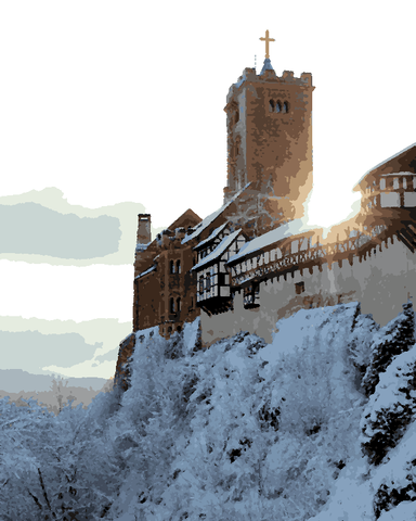 European Castles (449) - Wartburg Castle, Germany - Van-Go Paint-By-Number Kit