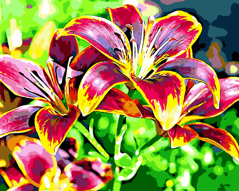 Flowers Collection (44) - Lilies - Van-Go Paint-By-Number Kit