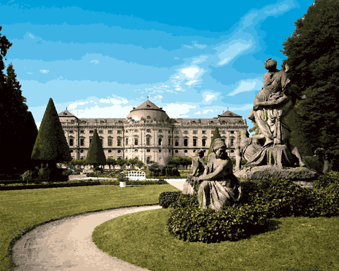European Castles (472) - Würzburg Residence, Germany - Van-Go Paint-By-Number Kit
