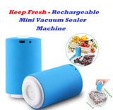 Keep Fresh - Rechargeable Mini Vacuum Sealer Machine With 5 Bags