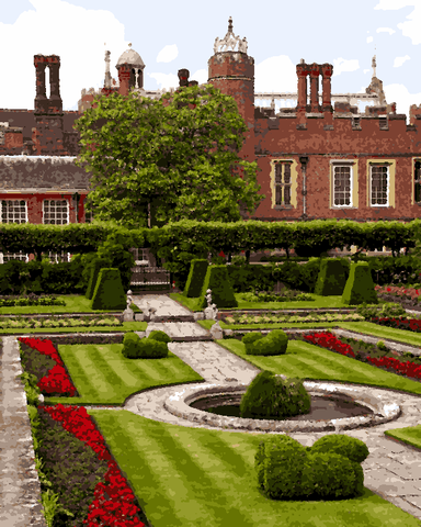 European Castles (500) - Hampton Court Palace, England - Van-Go Paint-By-Number Kit