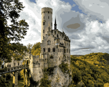 European Castles (509) - Lichtenstein Castle, Germany - Van-Go Paint-By-Number Kit