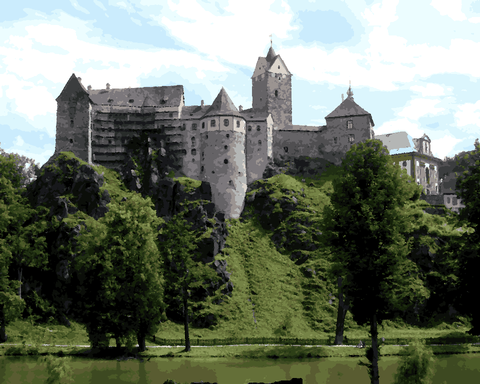 European Castles (515) - Loket Castle, Czech Republic - Van-Go Paint-By-Number Kit
