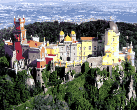 European Castles (528) - Pena Palace, Portugal - Van-Go Paint-By-Number Kit