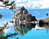 Amazing Places (664) - Lake Baikal, Russia - Van-Go Paint-By-Number Kit