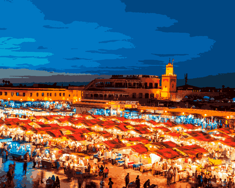 Amazing Places (676) - Marrakech, Morocco - Van-Go Paint-By-Number Kit