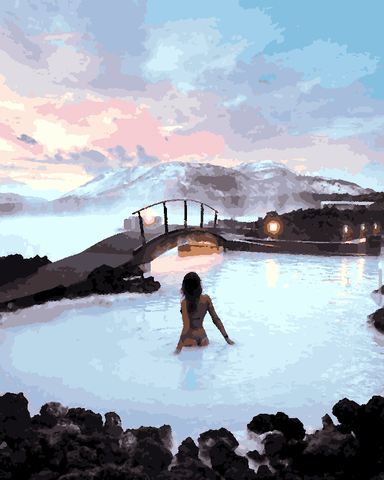 Amazing Places (69) - Blue Lagoon, Iceland - Van-Go Paint-By-Number Kit