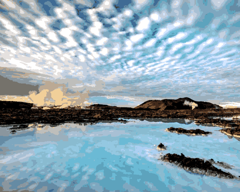 Amazing Places (70) - Blue Lagoon, Iceland - Van-Go Paint-By-Number Kit