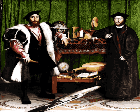 Famous Portraits (75) - The Ambassadors by Hans Holbein the Younger - Van-Go Paint-By-Number Kit