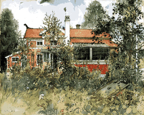 The Cottage by Carl Larsson (85) - Van-Go Paint-By-Number Kit