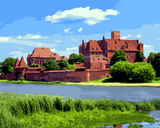 European Castles (86) - Malbork Castle, Poland - Van-Go Paint-By-Number Kit