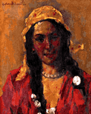 Famous Portraits (88) - The Yellow Headscarf by Octav Bancila - Van-Go Paint-By-Number Kit