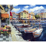 Mediterranean Harbor (2) - Van-Go Paint-By-Number Kit
