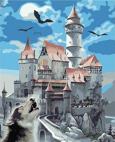 Haunted Castle - Van-Go Paint-By-Number Kit