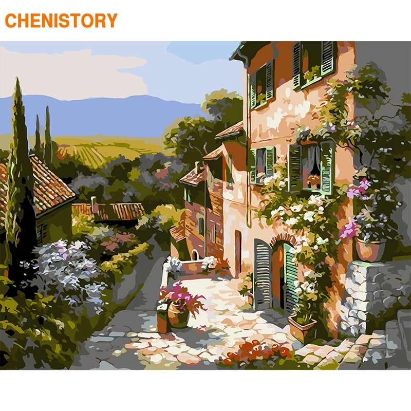 Italy Collection 24 Tuscany Landscape - Van-Go Paint-By-Number Kit