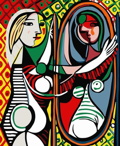 Girl Before A Mirror by Picasso - Van-Go Paint-By-Number Kit