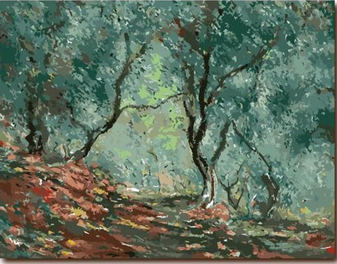 Olive Grove in the Moreno Garden (Claude Monet) - Van-Go Paint-By-Number Kit