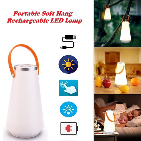 Portable Soft Hang Rechargeable LED Lamp - For Indoor and Outdoor Activities