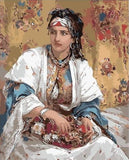 An Oriental Beauty by Jean-François Portaels - Van-Go Paint-By-Number Kit