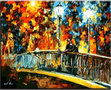 Date on the Bridge by Leonid Afremov - Van-Go Paint-By-Number Kit - MaxStore4U