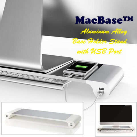MacBase™ - Aluminum Alloy Base Holder Stand with USB Port
