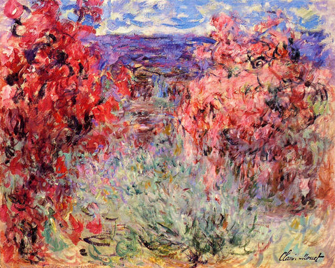 Flowering trees near the coast by Claude Monet - Van-Go Paint-By-Number Kit