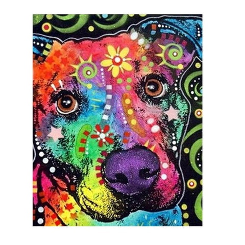 A Colorful Dog - Van-Go Paint-By-Number Kit